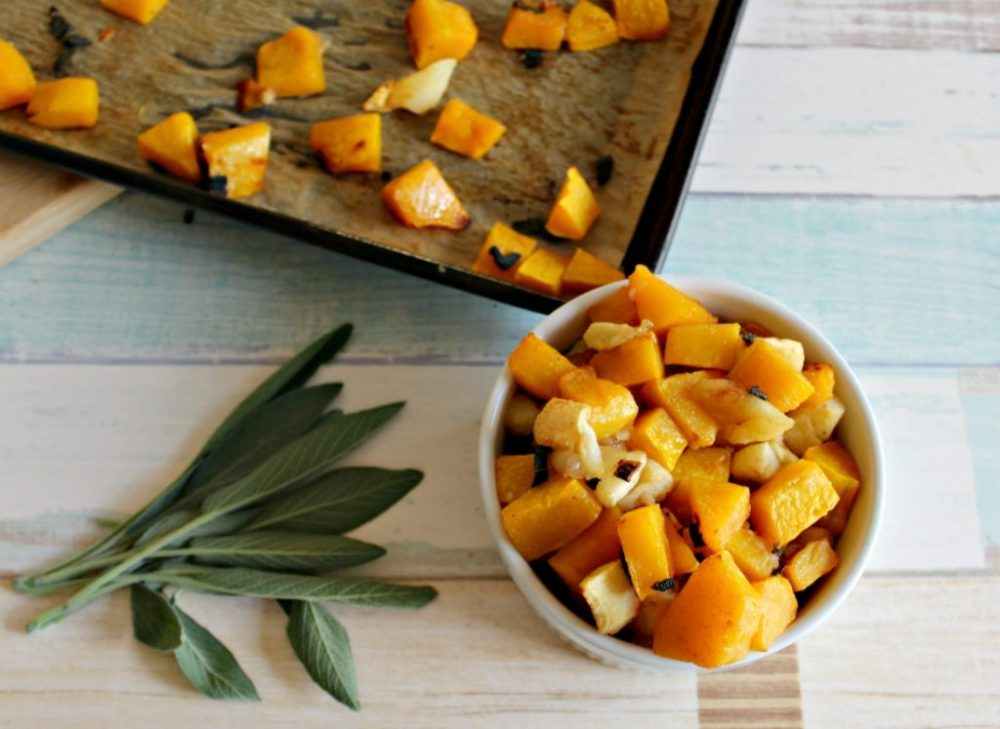 Roasted Butternut Squash and Apples #Appleweek